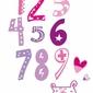 Fioletowe cyfry - plakat wymiar do wyboru: 21x29,7 cm