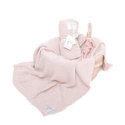 Colorstories - kocyk tkany cottonclassic 75x90 ciepły beż