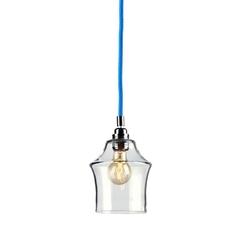 Kaspa - lampa wisząca - longis ii - niebieska - niebieski