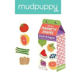 Drewniane magnesy mudpuppy - owoce i warzywa 35 elem.