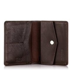 Super cienki portfel z ochroną rfid brodrene sw-s3 ciemny brąz