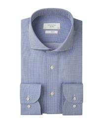 Męska niebieska koszula z fakturą dobby 37
