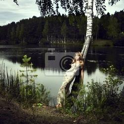 Obraz dziewczyna i rzeki