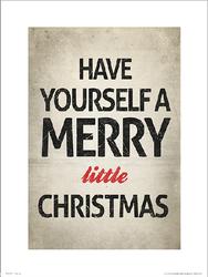 Merry Christmas Little - plakat premium