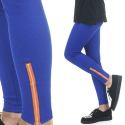 LEGGINSY BLUE ZIP - BLUE