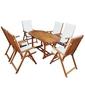 Zestaw ogrodowy stół + 6 krzeseł pola drewniany