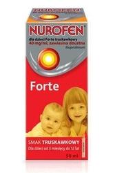 Nurofen dla dzieci forte 50ml truskawkowy