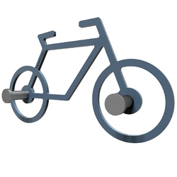 Wieszak ścienny bike calleadesign oliwkowo-zielony 13-008-54