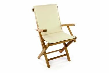 Krzesło składane, krzesło ogrodowe z poduszką