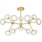 Żyrandol złoty lampa złota sufitowa elegancka g9