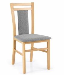 Tapicerowane krzesło do jadalni hubert 8 dąb miodowy