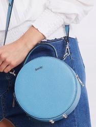 Torebka damska kuferek włoski skórzany rovicky niebieska