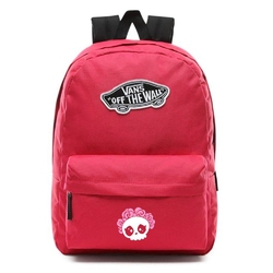 Plecak szkolny vans realm cerise - vn0a3ui6sq2 - custom cute skull - cute skull