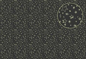 Gwiazdki na czarnym tle - fototapeta
