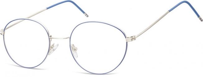 Lenonki oprawki optyczne 929a srebrne + niebieskie