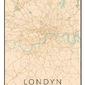Londyn mapa kolorowa - plakat wymiar do wyboru: 20x30 cm