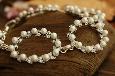 Pearl de lux - bransoletka z perłą i kryształkami svarovskiego