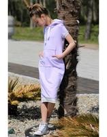 Fioletowa sukienka z kapturem