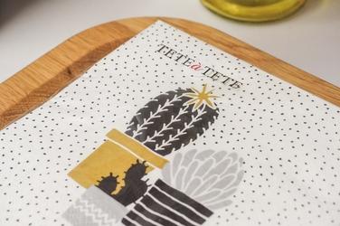 Serwetki papierowe białe kaktus 20 szt. 33 x 33 cm