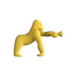 Qeeboo lampa kong żółta xs 10002ye