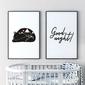 Zestaw dwóch plakatów - good night , wymiary - 40cm x 50cm 2 sztuki, kolor ramki - czarny