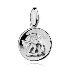 Srebrny medalik - aniołek