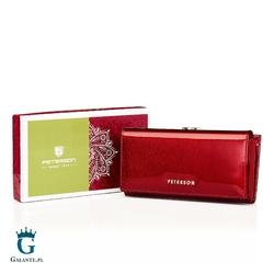 Skórzany portfel damski peterson bc721 portmonetka