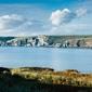 Burgh island cliffs - plakat premium wymiar do wyboru: 42x29,7 cm