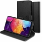 Etui Spigen Wallet S do Samsung Galaxy A50 Saffiano Black +Szkło Alogy