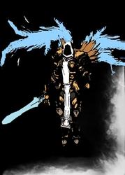 Blizzardverse stencils - tyrael, the stalwart defender of mankind, diablo - plakat wymiar do wyboru: 40x50 cm