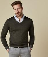 Pullover v-neck zielony s