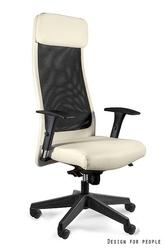 Obrotowe krzesło do biura ares soft pu beż