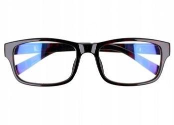 Prostokątne ala nerdy zerówki z antyrefleksem okulary st1202d