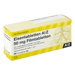 Eisentabletten abz 50 mg filmtabl.