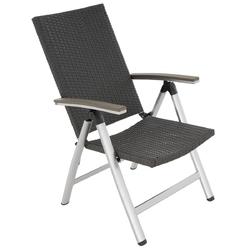 Krzesło ogrodowe składane z polirattanu 103x61x72 cm