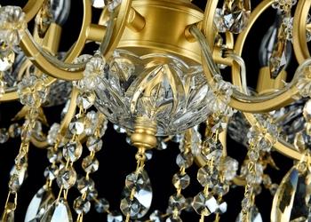 Żyrandol złoty z kryształami na 6 żarówek sevilla maytoni classic dia004-06-g