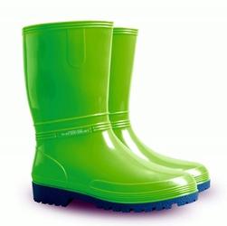 Zielone kalosze ochronne rainny ob e z niebieską podeszwą