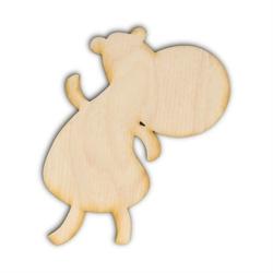 Drewniana ozdoba do rękodzieła tańczący hipopotam - hipopotam