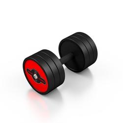 Hantla stalowa gumowana 20 kg czerwony połysk - marbo sport - 20 kg