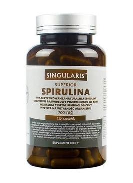 Singularis spirulina 700mg superior x 120 kapsułek