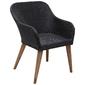 Komplet ogrodowy stół + 6 krzeseł rivera polirattan czarny