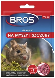 Bros, granulat na myszy i szczury, 90g