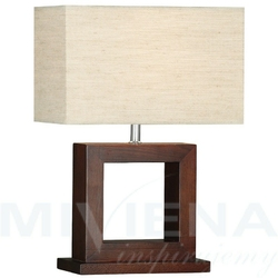 Calven lampa stołowa kremowydrewno