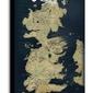 Gra o tron mapa westeros - obraz na płótnie