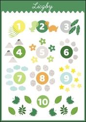 Liczby dinozaury - plakat wymiar do wyboru: 20x30 cm