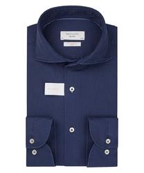 Niebieska koszula w strukturę profuomo slim fit 44
