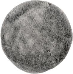 Dywan samba okrągły 80 cm srebrny