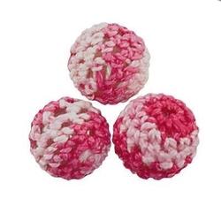 Koralik w wełnianym kubraczku 14 mm mix różowy - różm