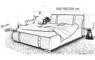 Łóżko tapicerowane tamara z pojemnikiem
