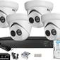 Zestaw monitoringu bcs view rejestrator ip 4x kamera 2mp bcs-v-ei221ir3
